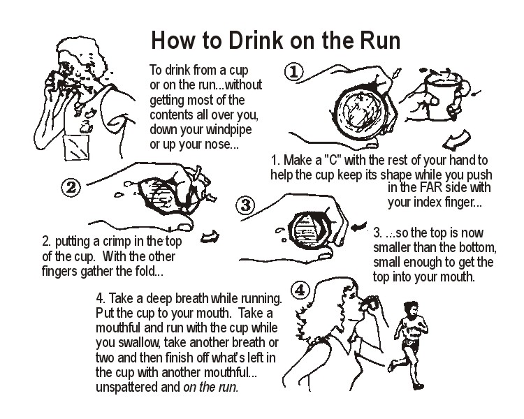 How to drink on the run